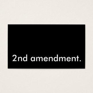 2nd amendment. business card