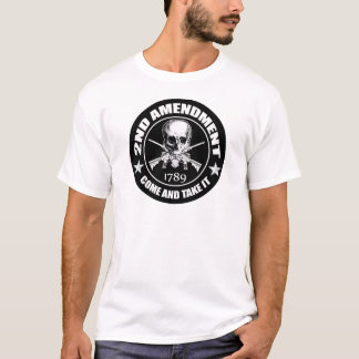 2nd Amendment Come And Take It Skull And AR's T-Shirt