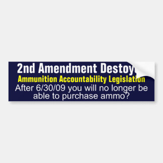 2nd Amendment Destroyed Bumper Sticker
