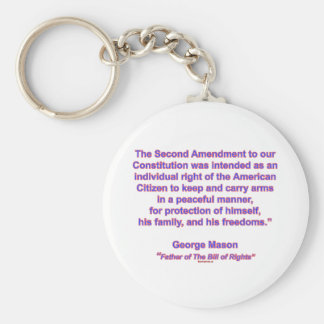 2nd Amendment - George Mason Basic Round Button Keychain