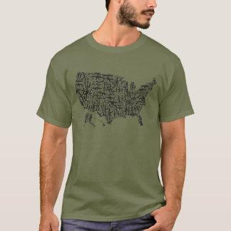 2nd Amendment Map T-Shirt