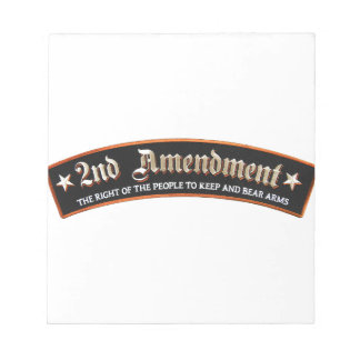 2nd amendment notepad