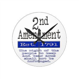 2nd Amendment Round Clock