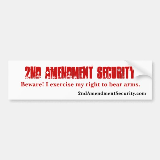 2nd Amendment Security Bumper Sticker