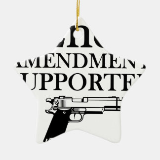 2nd AMENDMENT SUPPORTER - gun rights/constitution Ceramic Star Ornament