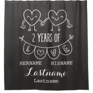 2nd Anniversary Gift For Her Chalk Personalized