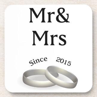 2nd anniversary matching Mr. And Mrs. Since 2015 Coaster