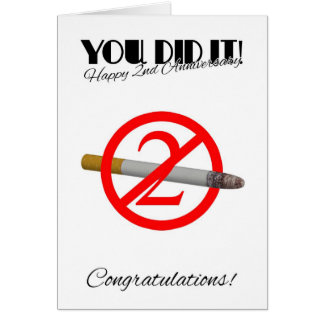 2nd Anniversary Of Quitting Smoking Greeting Card