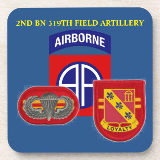 2ND BATTALION 319TH FIELD ARTILLERY DRINK COASTERS