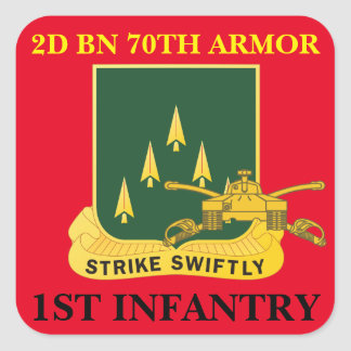 2ND BATTALION 70TH ARMOR 1ST INFANTRY STICKERS