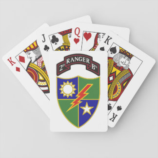 2nd Battalion - 75th Ranger Regiment Playing Cards