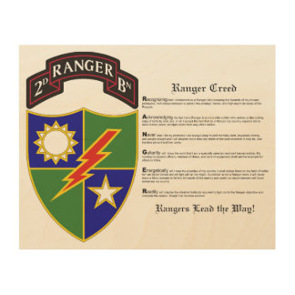 2nd Battalion - 75th Ranger Regiment Wood Wall Art