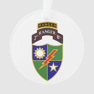 2nd Battalion - 75th Ranger w/Tab Ornament