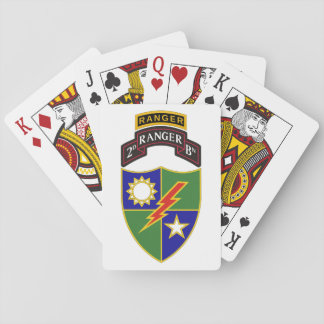 2nd Battalion - 75th Ranger w/Tab Playing Cards
