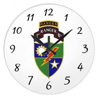 2nd Battalion - 75th Ranger w/Tab - Wall Clock
