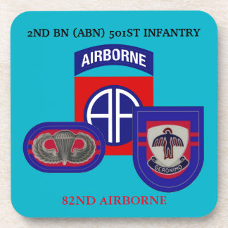 2ND BATTALION (ABN) 501ST INFANTRY DRINK COASTERS