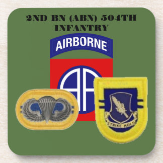 2ND BATTALION (ABN) 504TH INFANTRY DRINK COASTERS
