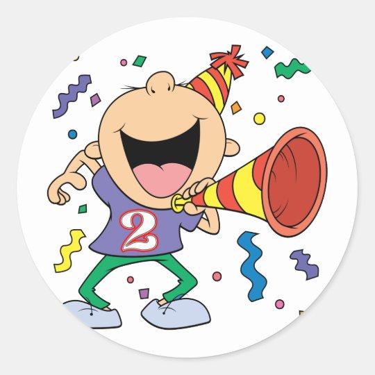 2nd Birthday Boy Classic Round Sticker