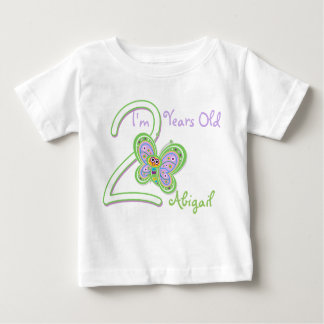2nd Birthday Butterfly Baby T-Shirt