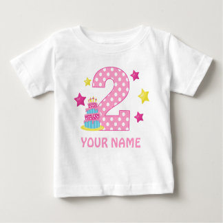 2nd Birthday Cake Girl Personalized T-shirt