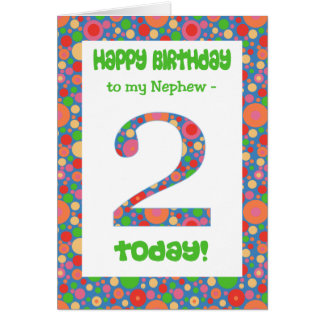 2nd Birthday Card for Nephew, Bright and Bubbly