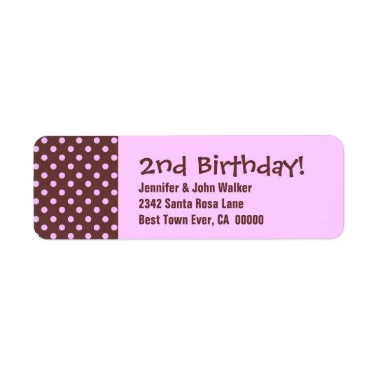 2nd Birthday Cute Polka Dot Pattern