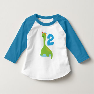 2nd Birthday Dinosaur I'm 2 Boys T-shirt