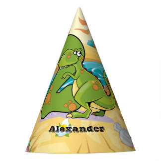 2nd Birthday Dinosaur Party Hat