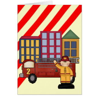 2nd Birthday Firefighter Greeting Card