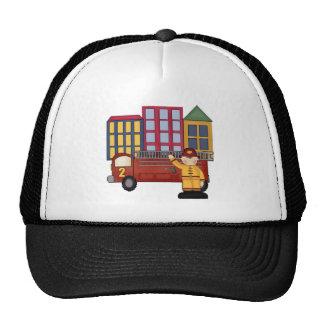2nd Birthday Firefighter Trucker Hat