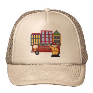 2nd Birthday Firefighter Trucker Hat