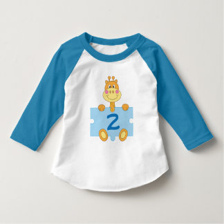 2nd Birthday Giraffe I'm Two Toddler T-shirt