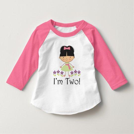 2nd Birthday I'm Two Girls T-shirt