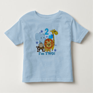 2nd Birthday Jungle Toddler T-shirt