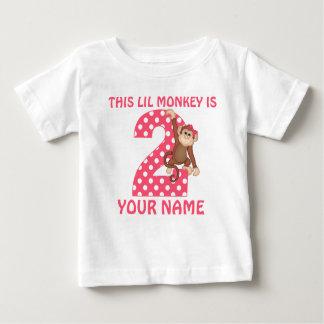 2nd Birthday Monkey Girl Personalized T-shirt