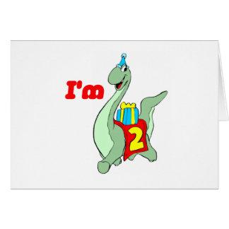 2nd Birthday Party Invitation - Dinosaur