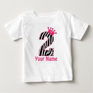 2nd Birthday Pink Zebra Personalized Shirt