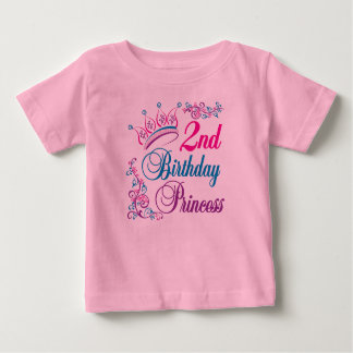 2nd Birthday Princess Baby T-Shirt