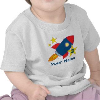 2nd Birthday Rocket Personalized T-shirt