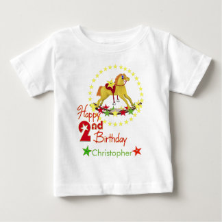 2nd Birthday Rocking Horse Baby T-Shirt
