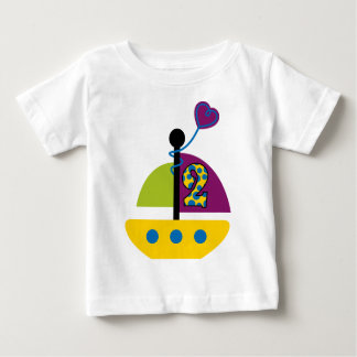 2nd Birthday Sailboat Baby T-Shirt