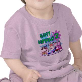 2nd Birthday Space Birthday Tee Shirts