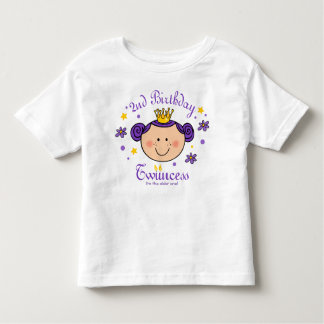 2nd Birthday Twincess Personalized Shirt