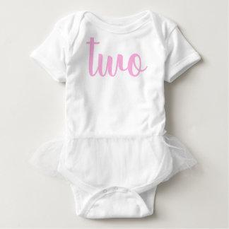2nd Birthday two toddler pink Baby Bodysuit