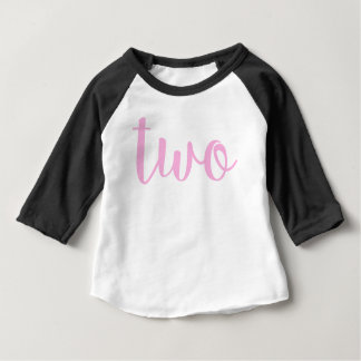 2nd Birthday two toddler pink Baby T-Shirt