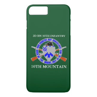 2ND BN 30TH INFANTRY 10TH MOUNTAIN iPHONE CASE