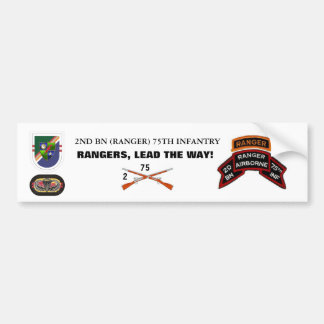 2nd Bn RANGER Bumper Sticker