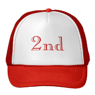 2nd. Custom Text. Red and White. Trucker Hat