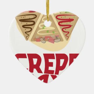 2nd February - Crepe Day - Appreciation Day Ceramic Heart Ornament