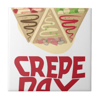 2nd February - Crepe Day - Appreciation Day Ceramic Tiles